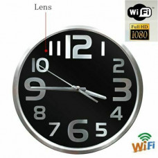 1080P WIFI Wall Clock Camera Black