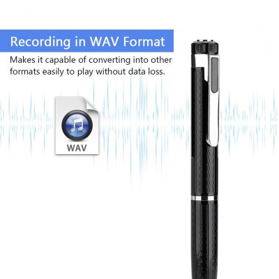 8GB Digital Audio Voice Recorder Pen Mini Wireless HD Recorder Pen for Interviews Student Courses Collecting Evidence Replaceable Signature Pen Refill USB Drive Dictaphone