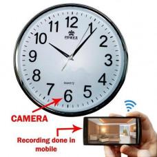 Ağ saatı ilə divar kağızı ağıllı təhlükəsizlik kamerası