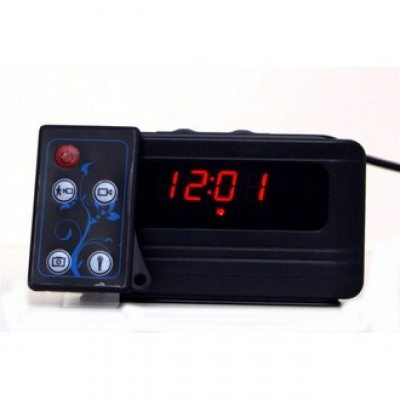 5MP HD 720P Camcorder Spy Alarm Clock Video Hidden Camera DVR Motion with Remote Motion Activated Mini Alarm Clock