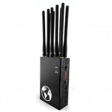 TX-N10 10 Antenna Portable Mobile GSM DCS PHS 3G 4G GPS Glonass Jammer Scrambler Device